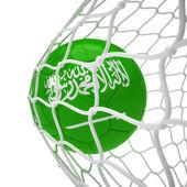 ネット内のサウジアラビアのサッカー ボール — ストック写真