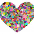 Pixel Heart — Stockfoto