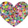 Pixel Heart — Stock Photo