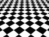 Chequered floor — Stock Photo