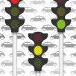 Traffic signals on traffic - Stock Photo