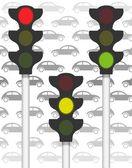 Traffic signals on traffic — Stock Photo