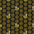 Seamless bee hive - Stockfoto