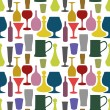 Seamless drinks background — Stockfoto
