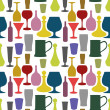 Seamless drinks background - Stock Photo