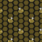 Seamless bee hive — Stock Photo