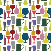 Seamless drinks background — Stock Photo