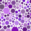 Hexagonal purple — Stock Photo