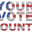 Stock Photo: Your Vote Counts