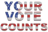 Your Vote Counts — Stock Photo