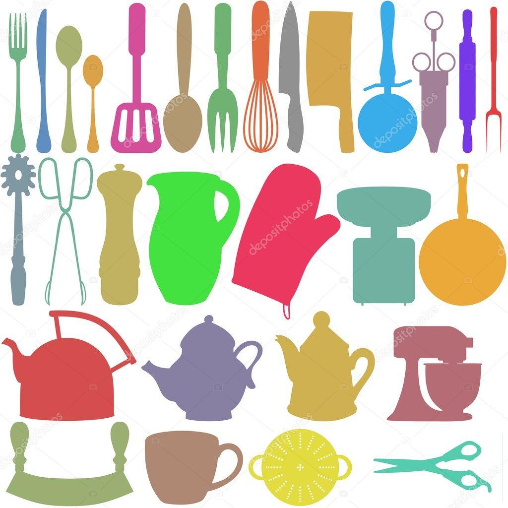 Objetos de cocina color foto de stock darrenw 9786415 for Objetos de cocina