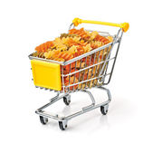 Shopping Cart Filled With Pasta — Stock Photo