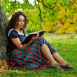 The girl with book — Stock Photo