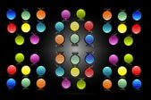 Buttons 8 colors — Stock Photo