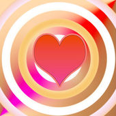Heart on a striped background. — Stock Photo