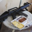 Dinner of Israeli soldier - Stock Photo