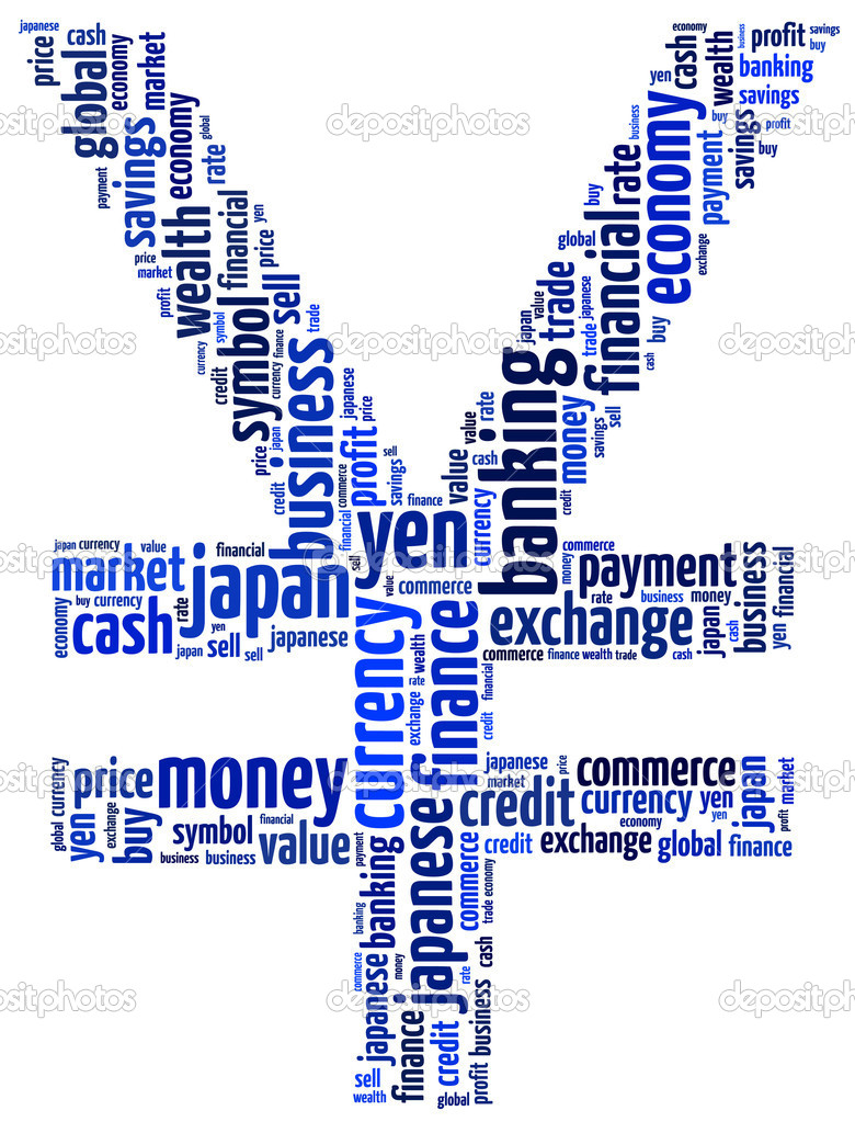 Japanese Yen currency money symbol in abstract text graphic illustration.  Stock Photo #10052769