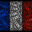 France national flag — Stok fotoğraf