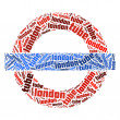 London Underground Symbol — Stock Photo
