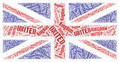 Britse nationale vlag — Stockfoto