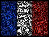 Národní vlajka francie — Stock fotografie