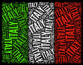 Bandera nacional de italia — Foto de Stock