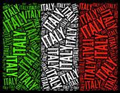 Národní vlajka itálie — Stock fotografie