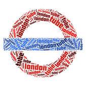 伦敦地下符号 — 图库照片