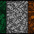 Ireland national flag - Stock Photo