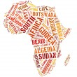 Africa continent countries — Foto Stock