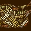 Roast Turkey text graphic — Stock Photo