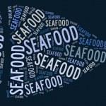 Fish shape graphic on blue background — Stock Photo