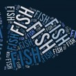 Fish shape graphic on blue background — Stockfoto