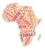 Africa continent countries — Foto de Stock
