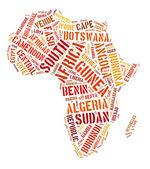 Pays continent afrique — Photo