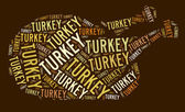 Roast Turkey text graphic — Stockfoto