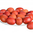 Red Easter eggs — Stock Photo #9484297