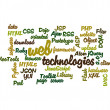 Royalty-Free Stock Photo: Web Technology word cloud isolated
