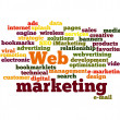 Web Marketing word cloud isolated — Stock Photo #9269502