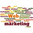 Web Marketing word cloud isolated — Stock Photo