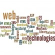 Stock Photo: Web Technology word cloud isolated