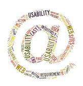 Web Usability word cloud isolated — Stock Photo