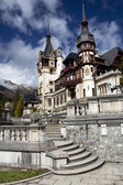 View of Peles Castle Tower, Sinaia Romania — Stock Photo