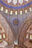 The stunning interior of the Blue Mosque in Istanbul, Turkey — Stock Photo