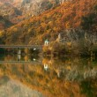 Autumn on Olt Valley, photo taken in Romania - Stock Photo