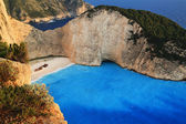 Beach Navagio in Zakynthos, Greece — Stock Photo