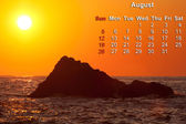 2012 calendar page for August — Stock Photo