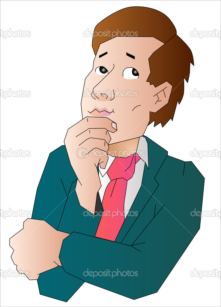 Man think about something  Stock Vector #10465567