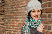 Young woman with a winter hat — Stock Photo
