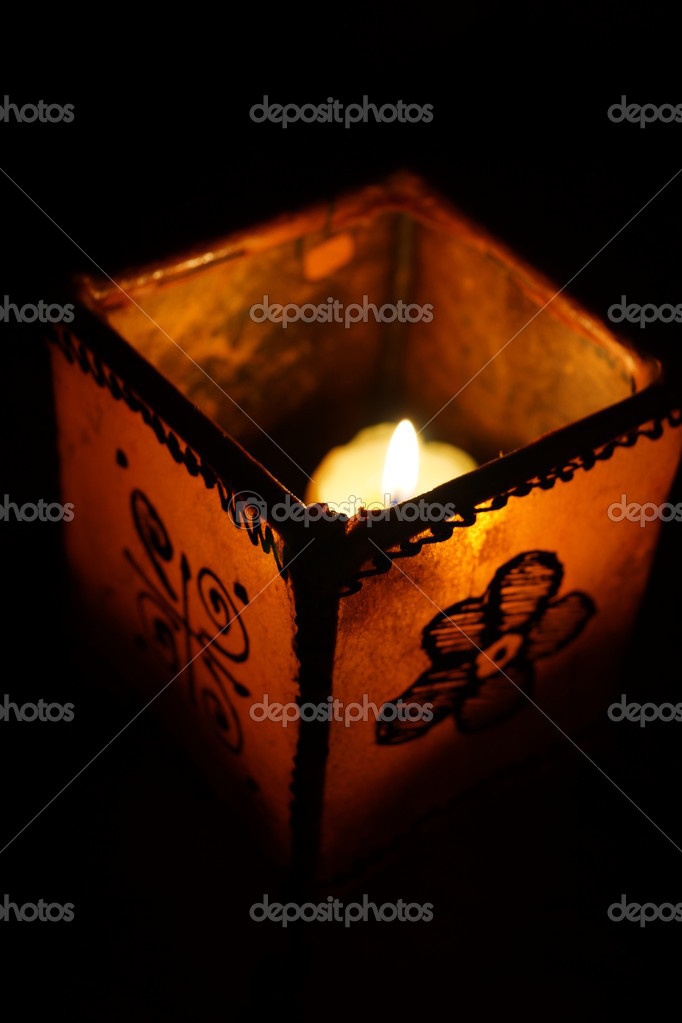 A candle in the dark — Stock Photo #9302496